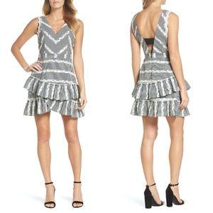 NEW ADELYN RAE Belle Ruffle Gingham Print DRESS XS